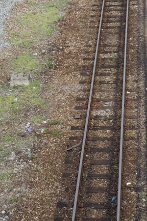 Close up shot of an old railway track. Stock Photo - 5986626
