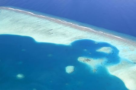 Shoot taken of the maldives reef from the sky. Stock Photo - 7518784