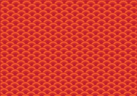 repeatable texture: Ola Oriental curva fondo rojo