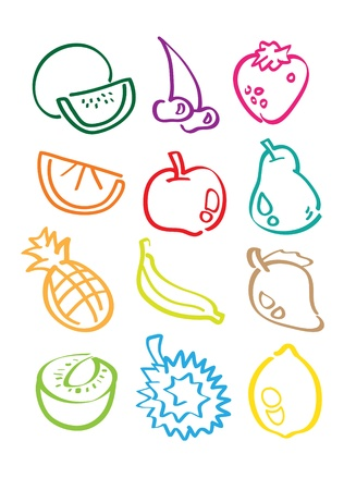 Vector icon graphic of fruits Vector