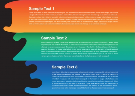 A vector layout design of 3 option  This design is good for any layout  Vector