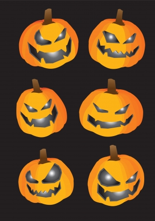 Collection set of pumpkins for Halloween Stock Vector - 14643965