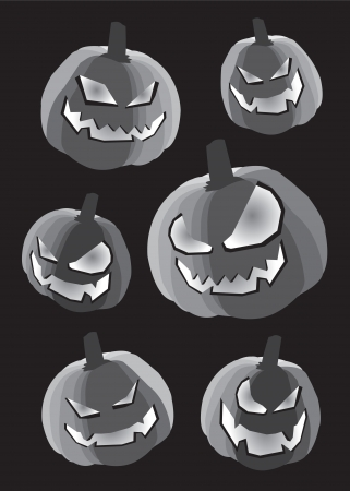Collection set of pumpkins for Halloween Stock Vector - 14643961