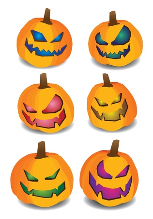 Collection set of pumpkins for Halloween Stock Vector - 14643967