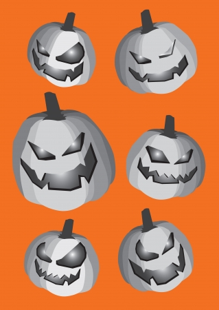 Collection set of pumpkins for Halloween  Stock Vector - 14643962