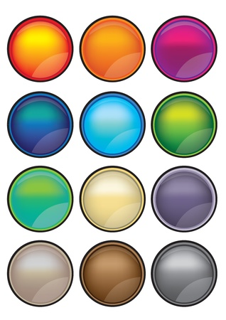 Collection set of 12 illustration button that is ideal with web and graphic design Stock Vector - 14678367