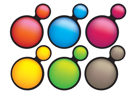 Collection set of 6 illustration button that is ideal with web and graphic design Stock Vector - 14678358