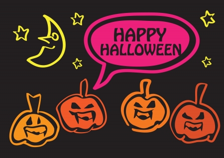 nightmarish: Happy Halloween greeting design for the holidays