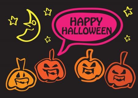 nightmarish: Happy Halloween greeting design for the holidays