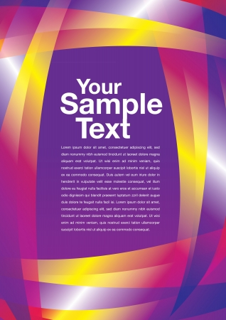 abstract trendy layout design with spaces for copy. Vector
