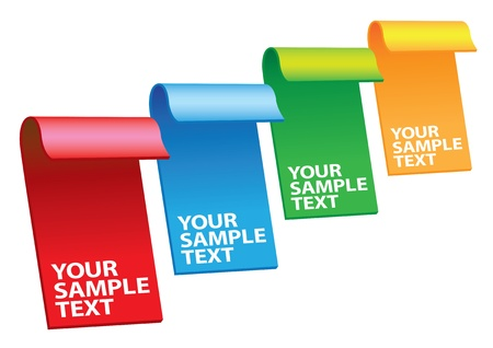 Vector illustration of 4 colors labels with copy spaces Vector
