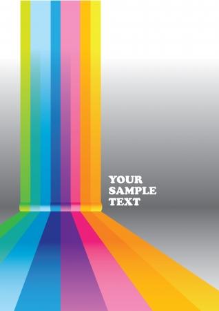 Vector abstracto colorido del arco iris de Empresas de diseño de fondo ilustración