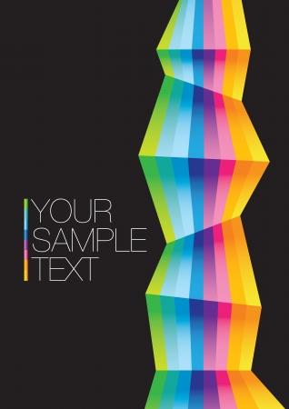 Vecteur abstrait arc-en-couleurs de fond illustration layout d'affaires