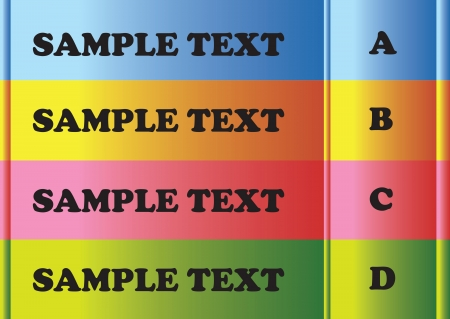masthead: 4 color bars with area for sample texts  Illustration
