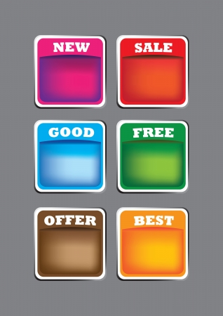 A Set of 6  labels with spaces for copy  Vector