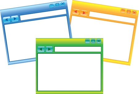 Vector illustration of three Internet Browsers Stock Vector - 14979125