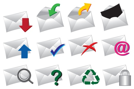 junk mail: Vector Illustration of a set of mail icons