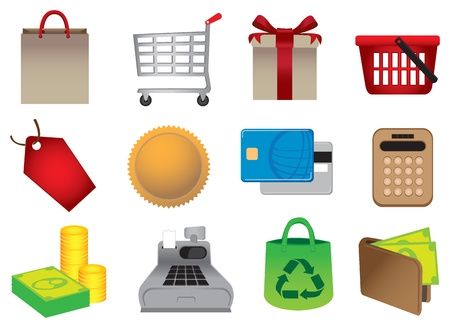 Vector illustration of Shopping Icons Stock Vector - 14979114
