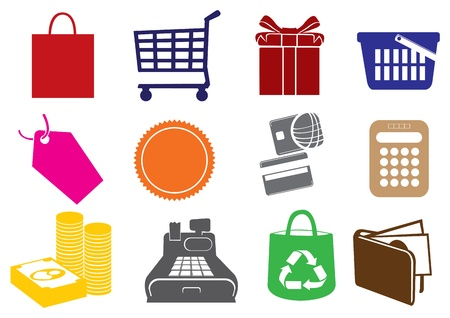 Vector illustration of Shopping Icons Stock Vector - 14979111