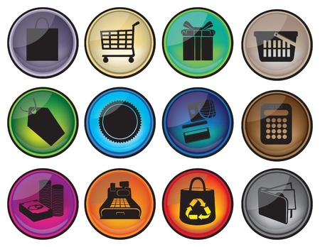 Vector illustration of Shopping Icons Stock Vector - 14979138