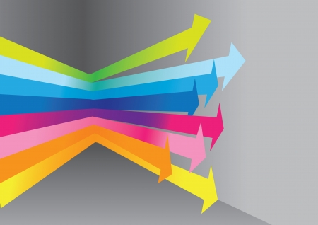 Arrow direction from a rainbow lights Stock Vector - 14979116