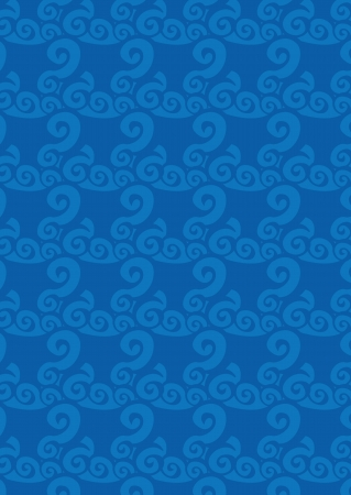 Vector llustration of  blue water wave repetition pattern Vector