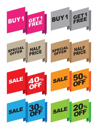 Vector set of special offer labels and banners Vector