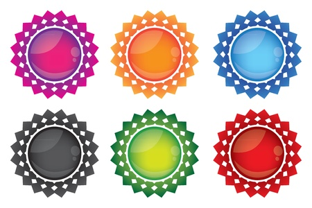 illustration of Round colorful icons Stock Vector - 15100175