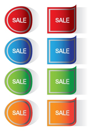 Labels stickers with sale messages Stock Vector - 15100110