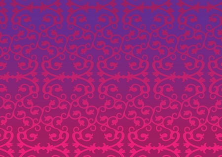 Pink and Purple Retro decorative pattern wallpaper background Vector