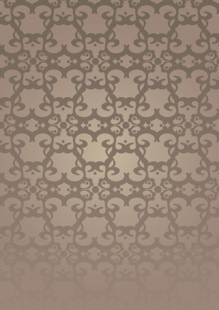 Brown Retro decorative pattern wallpaper background Vector