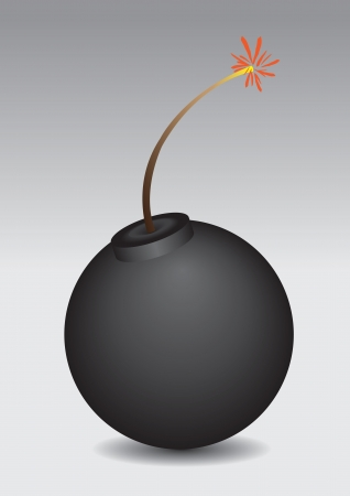 Vector illustration of a bomb that is going to explore Stock Vector - 15327147