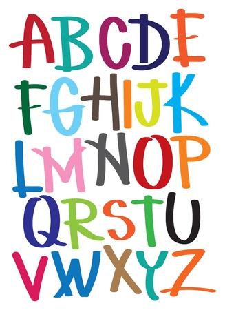 alphabet graffiti: ilustrar alfabeto de la A a la Z Vectores