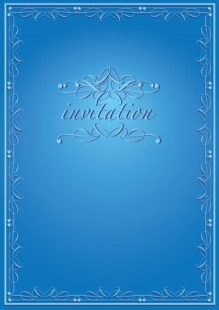 Vintage background luxury frame invitation card  style  Vector