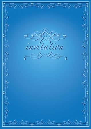 Vintage background luxury frame invitation card  style Stock Vector - 15327260