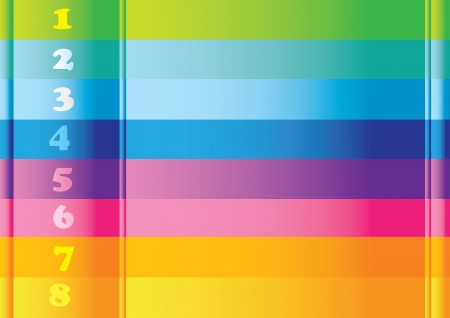 striped band: Abstract colorful background layout with number options