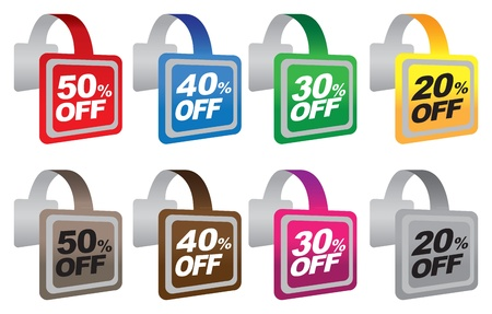 Discount sale labels  illustration Illustration