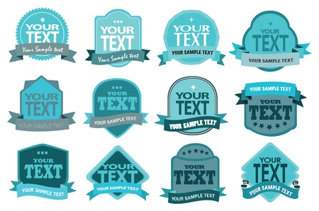star shape: set of vintage frames with spaces for your own text copy  Illustration