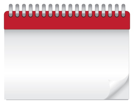 illustration of a blank calendar  Vector