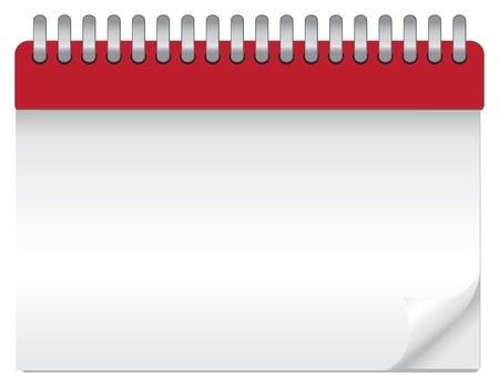 organizer page: ilustraci�n de un calendario en blanco