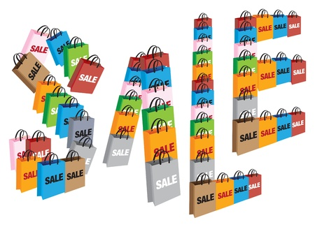 paperbag: SALE form up by shopping bags
