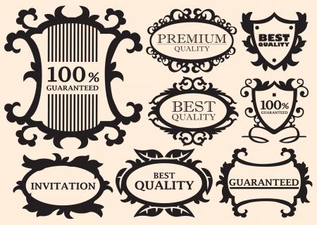 ruban noir: éléments de conception calligraphiques et décorations