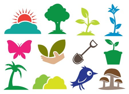 12 icons for Ecology and Natural Vector