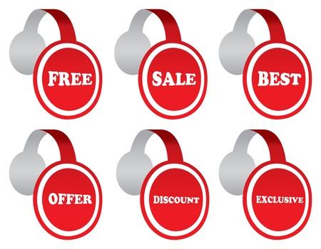 illustration de point de vente �tiquettes avec des messages � vendre