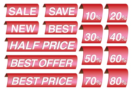 sell out: Sale label and price tags in different messages Illustration