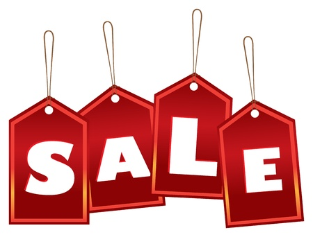 Sale labels with a sale message Vector
