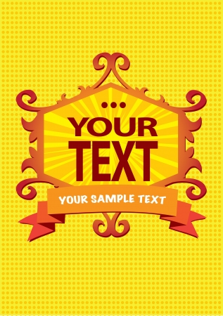 Gold-colored retro vintage layout design  Stock Vector - 15569296