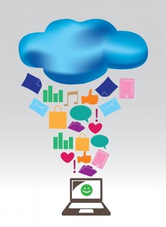public folder: illustration of Cloud computing concept