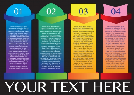 Layout design of fold paper with colors and area for text  illustration  Vector