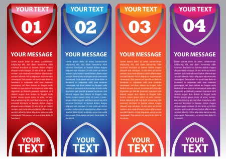 Layout design of fold paper with colors and area for text  Vector illustration Stock Vector - 16365568